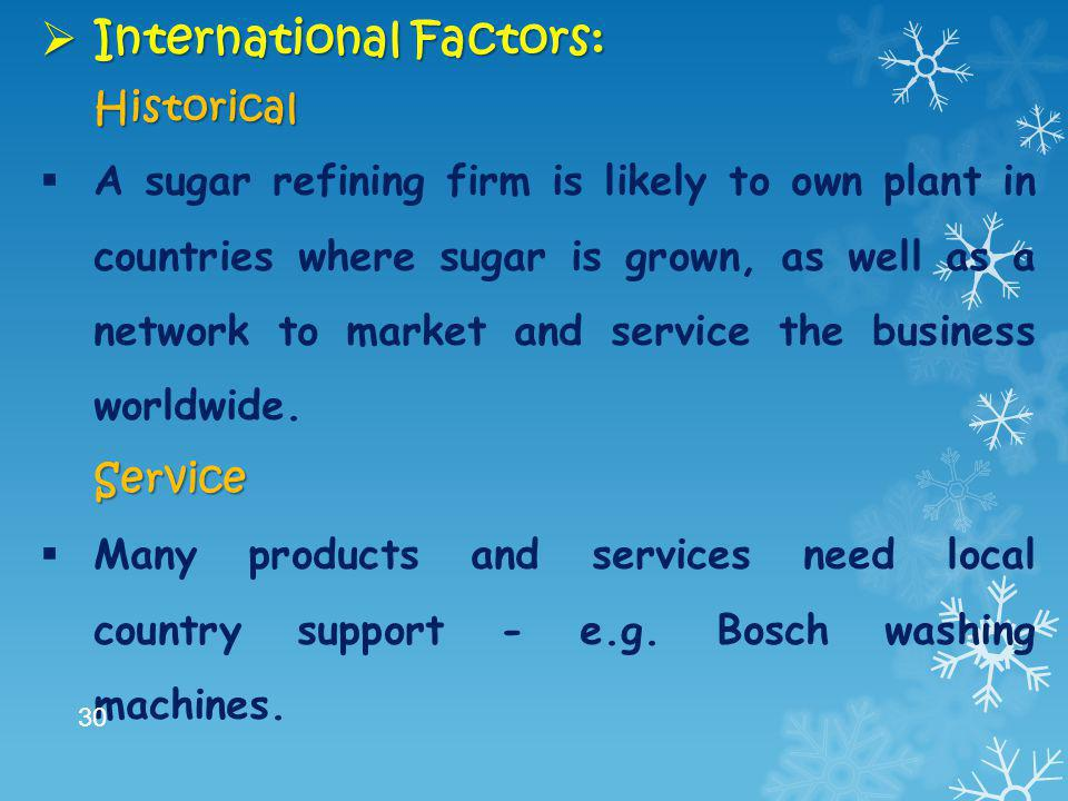International Factors: