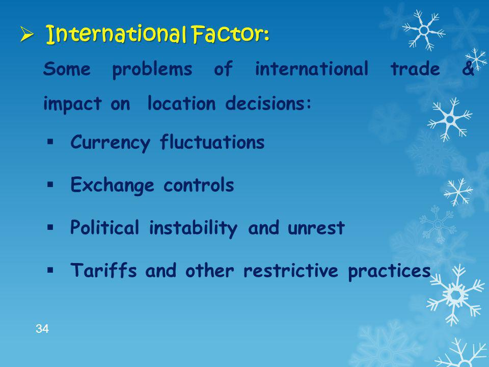 International Factor: