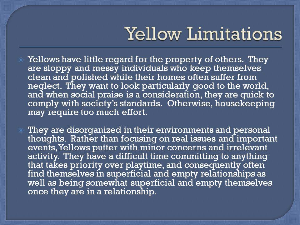 Yellow Limitations