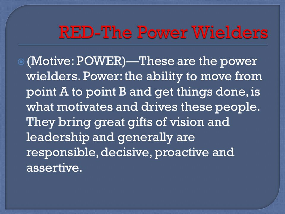RED-The Power Wielders