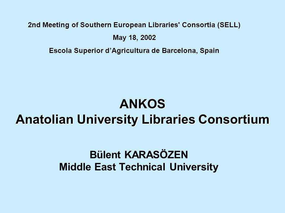 ANKOS Anatolian University Libraries Consortium