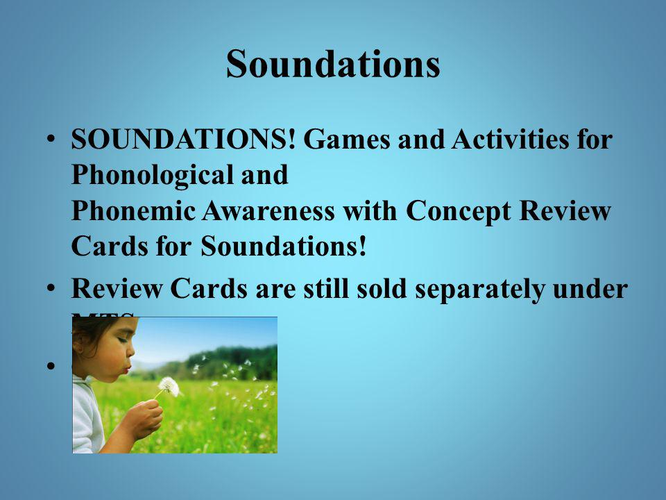 Soundations SOUNDATIONS! Games and Activities for Phonological and Phonemic Awareness with Concept Review Cards for Soundations!