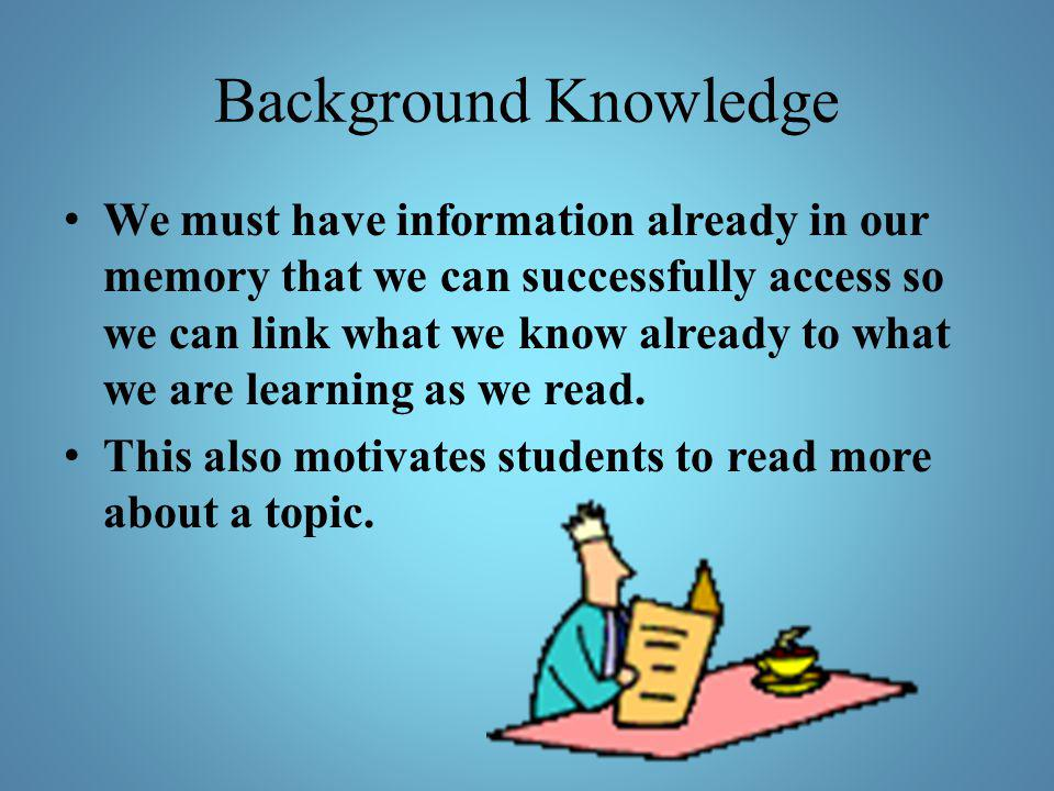 Background Knowledge