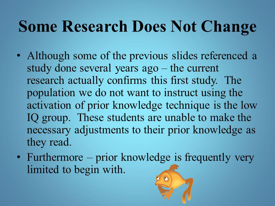 Some Research Does Not Change