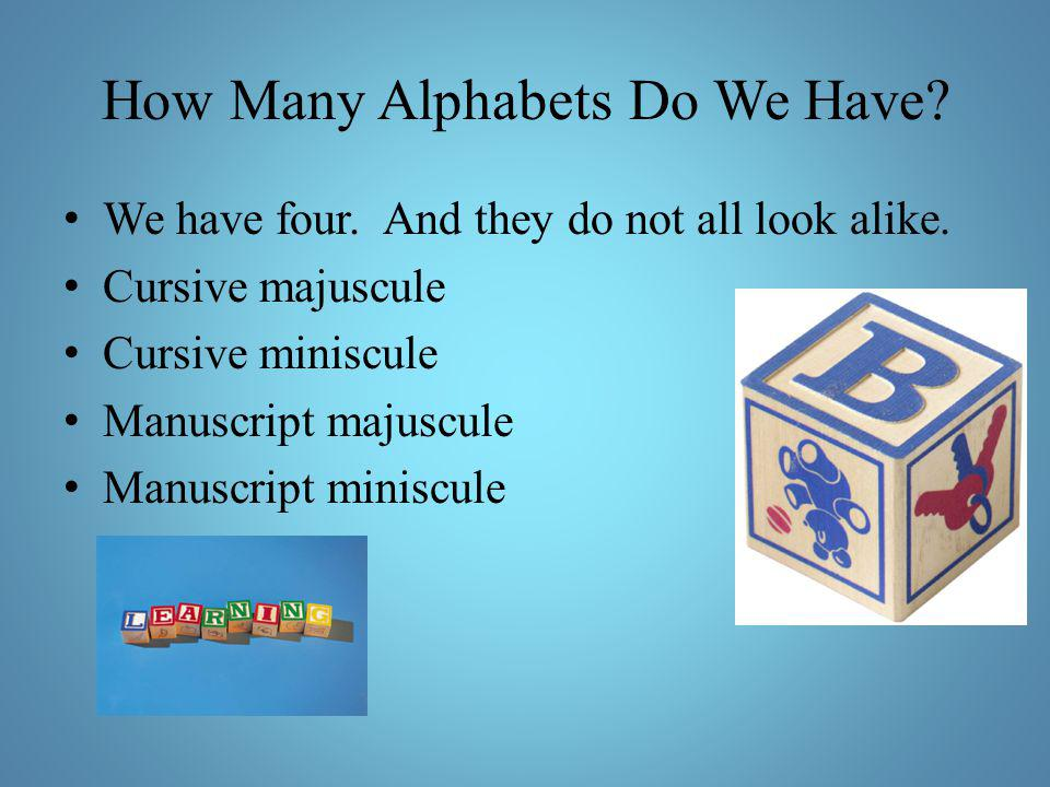 How Many Alphabets Do We Have