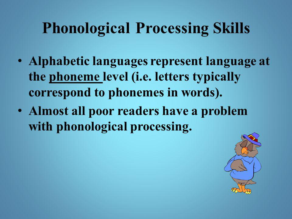Phonological Processing Skills