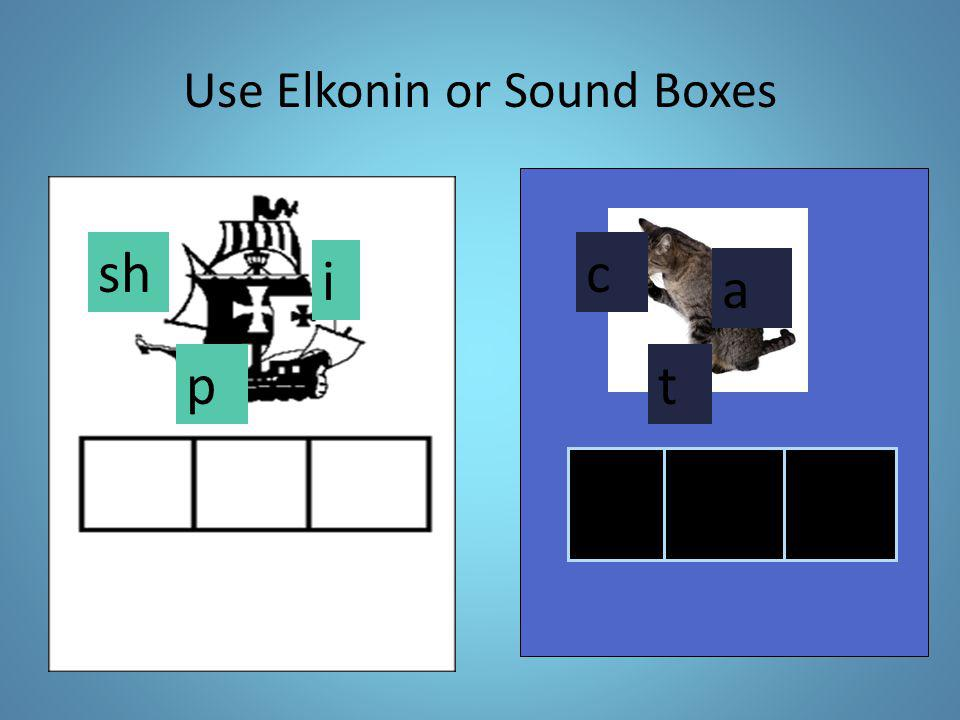 Use Elkonin or Sound Boxes