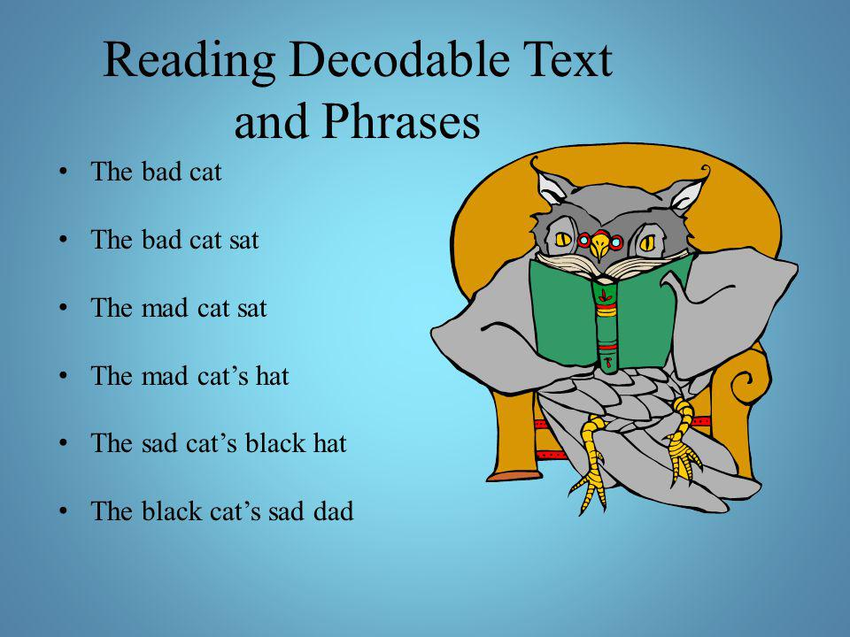 Reading Decodable Text and Phrases