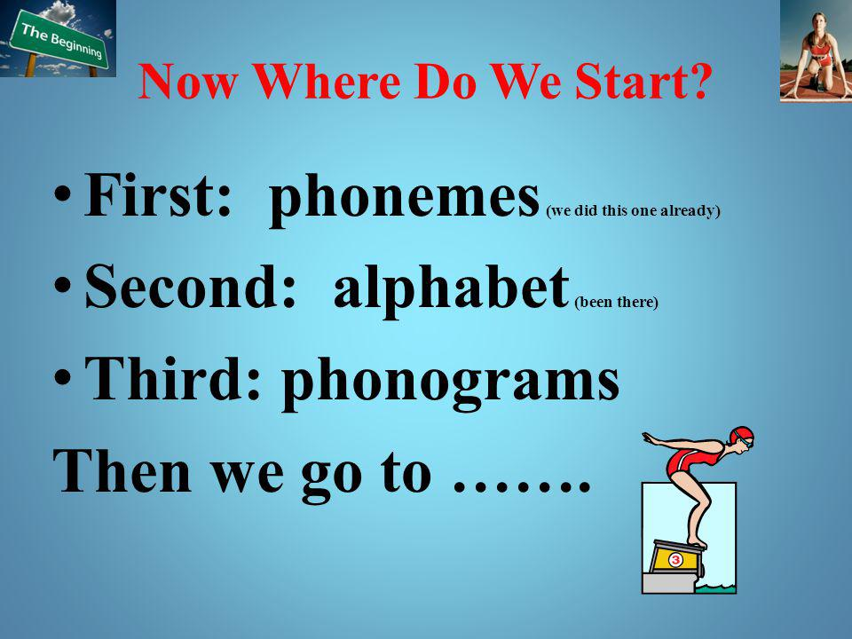 First: phonemes (we did this one already)