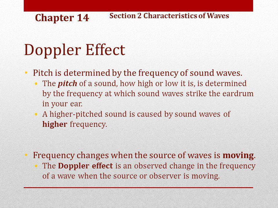Doppler Effect Chapter 14