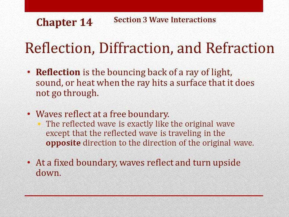 Reflection, Diffraction, and Refraction