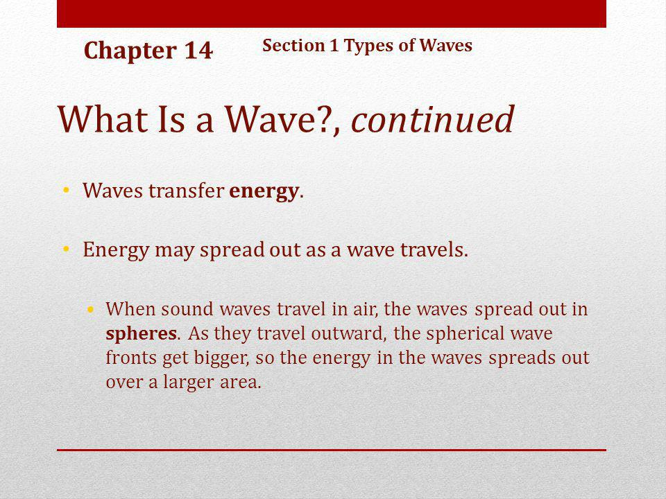 What Is a Wave , continued