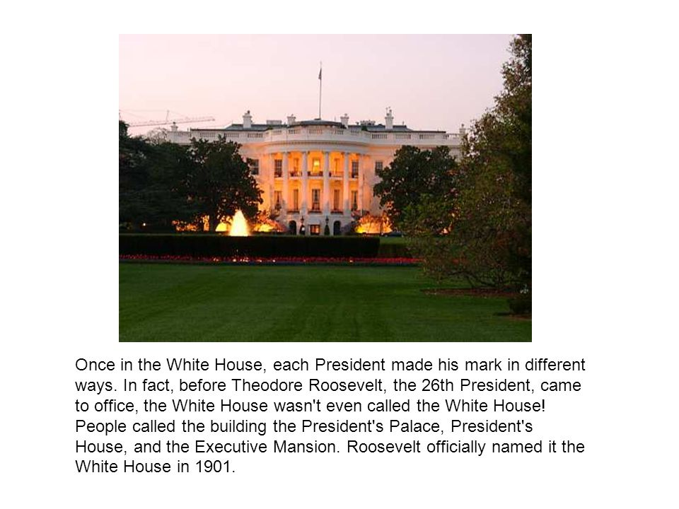 Once in the White House, each President made his mark in different ways.