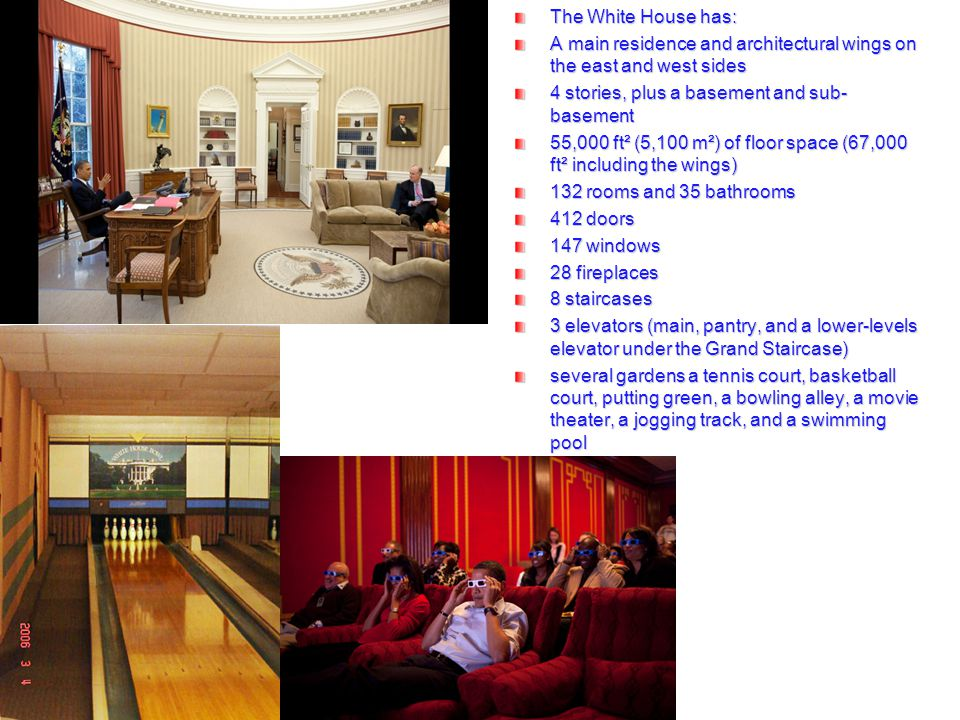 Oval office The White House has: