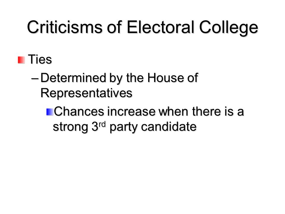 Criticisms of Electoral College