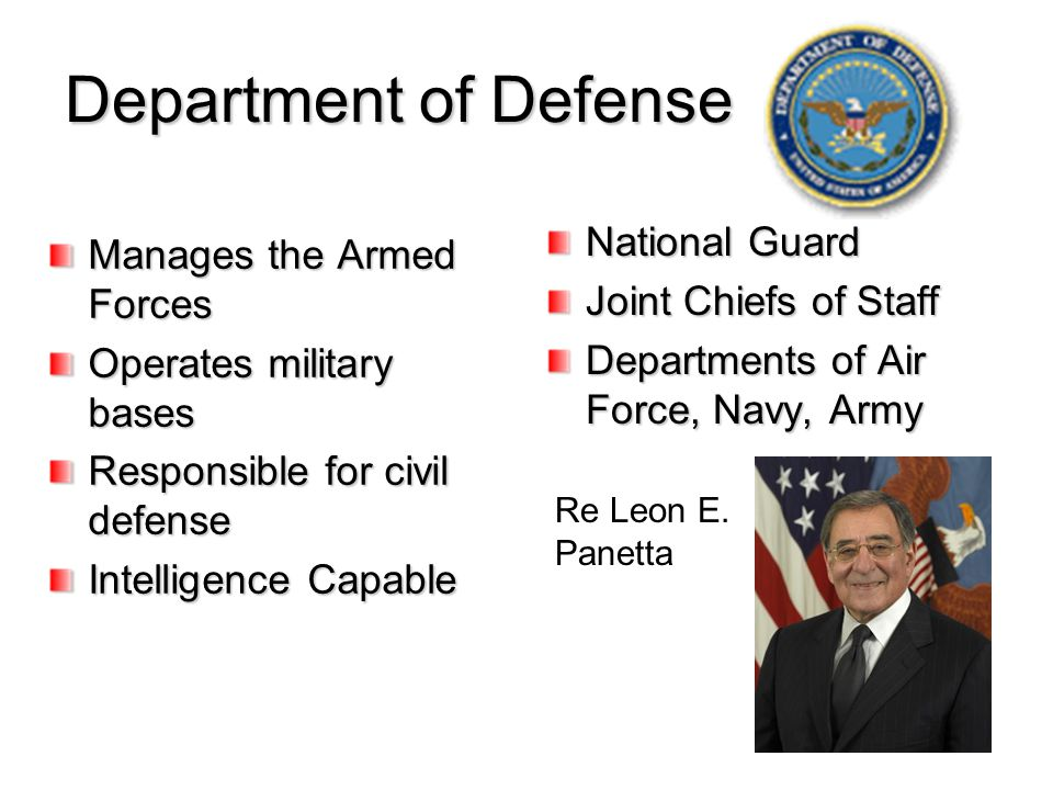Department of Defense National Guard Manages the Armed Forces
