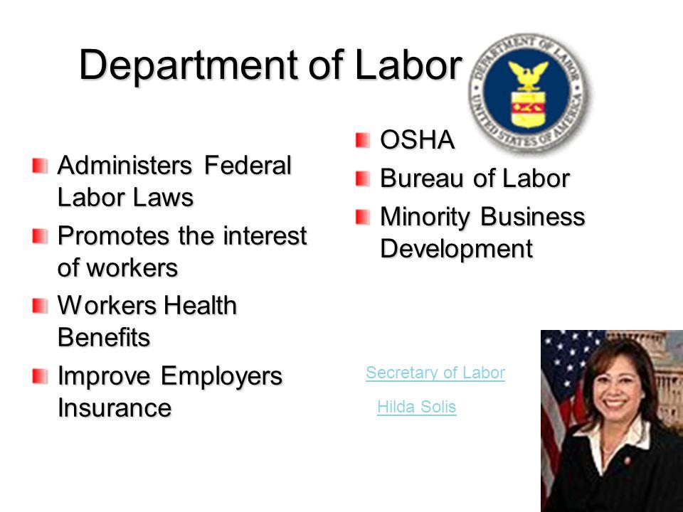 Department of Labor OSHA Bureau of Labor