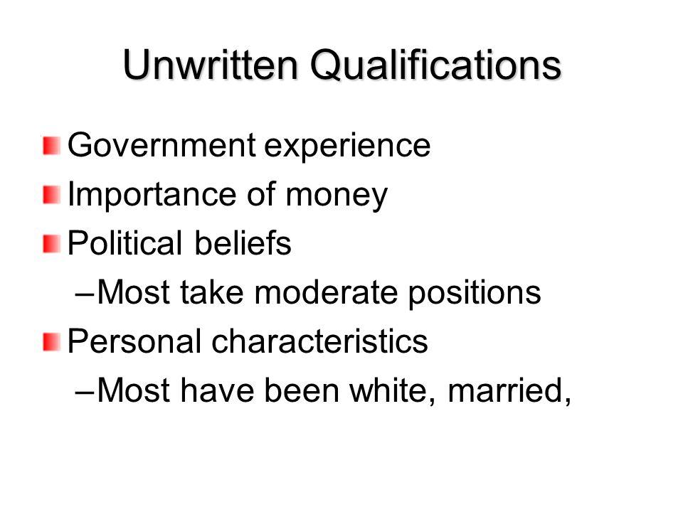 Unwritten Qualifications