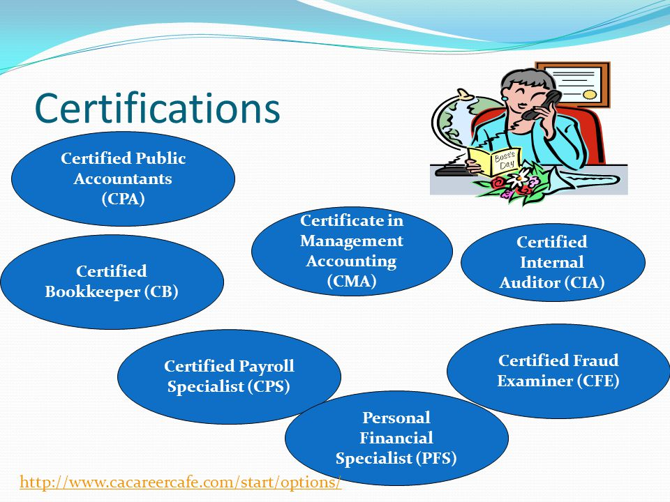 Certifications Certified Public Accountants (CPA)