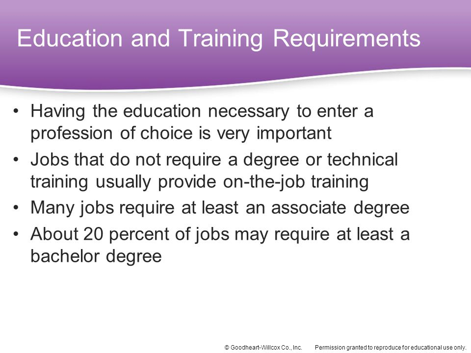 Education and Training Requirements