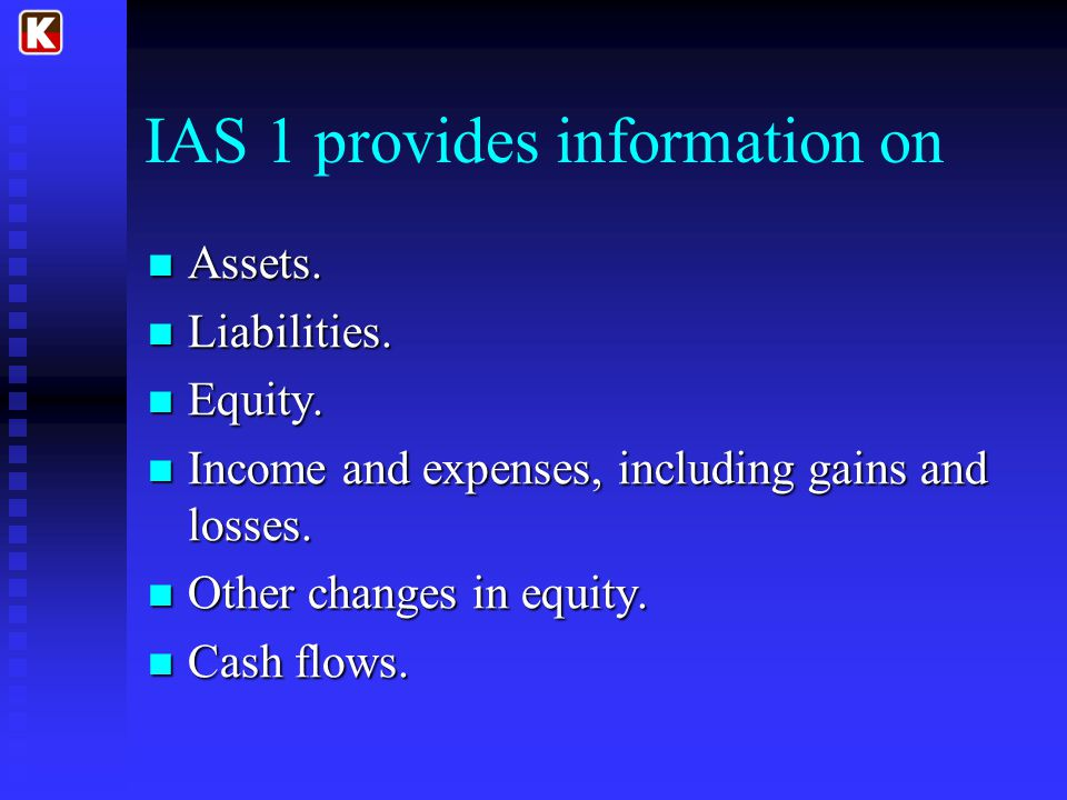 IAS 1 provides information on