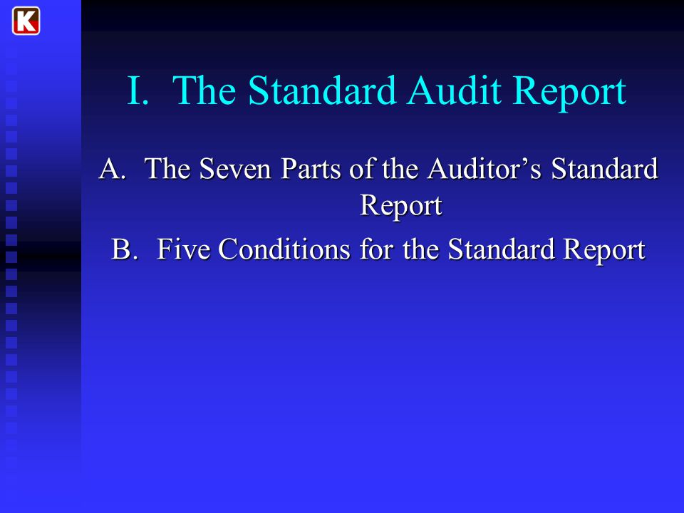 I. The Standard Audit Report