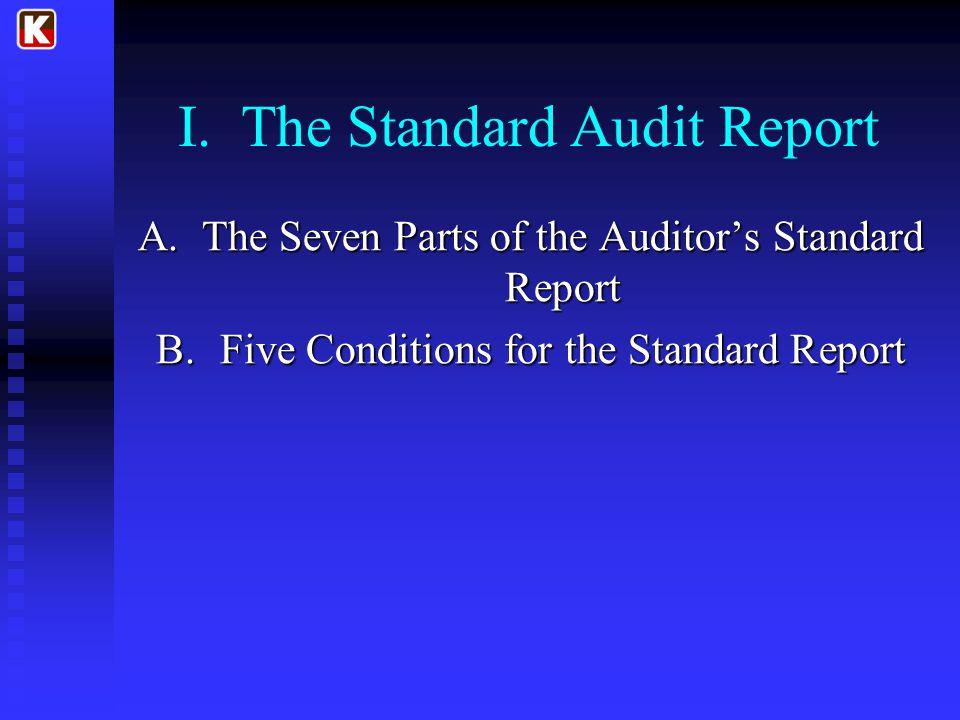 I. The Standard Audit Report