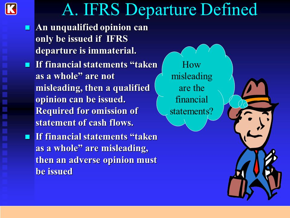 A. IFRS Departure Defined
