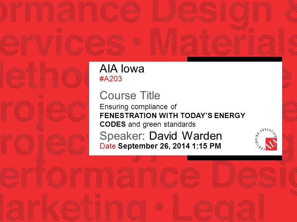 AIA Iowa #A203.