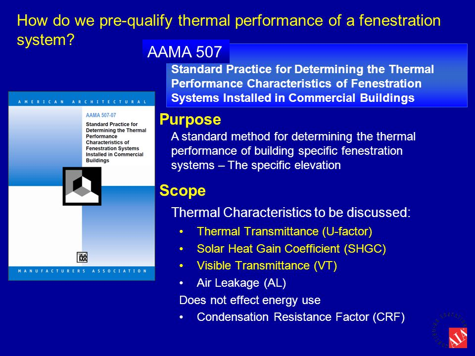 How do we pre-qualify thermal performance of a fenestration system