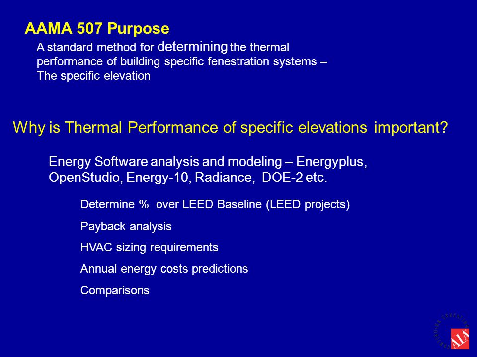 Why is Thermal Performance of specific elevations important