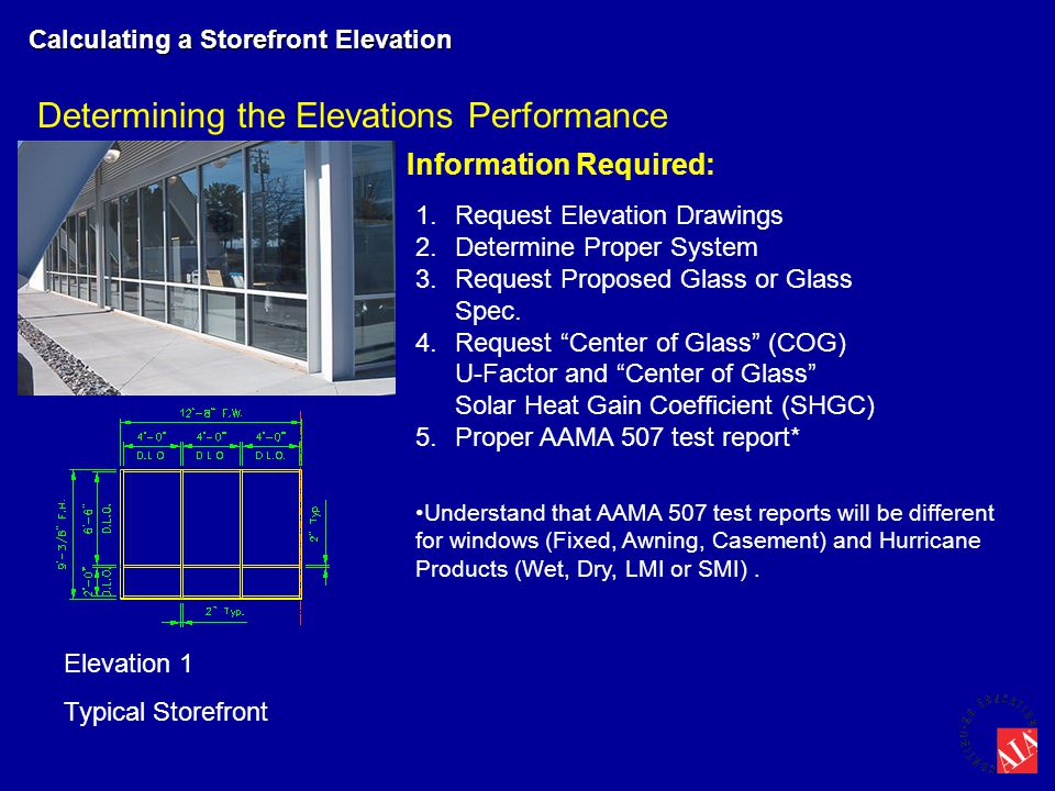 Determining the Elevations Performance