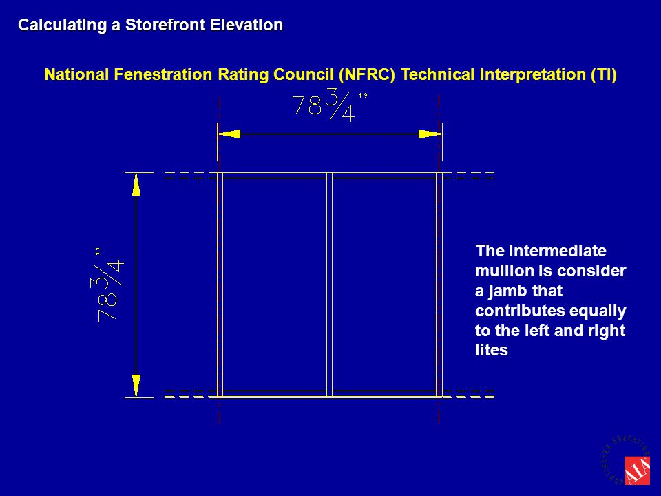 Storefront or Window Wall Elevation