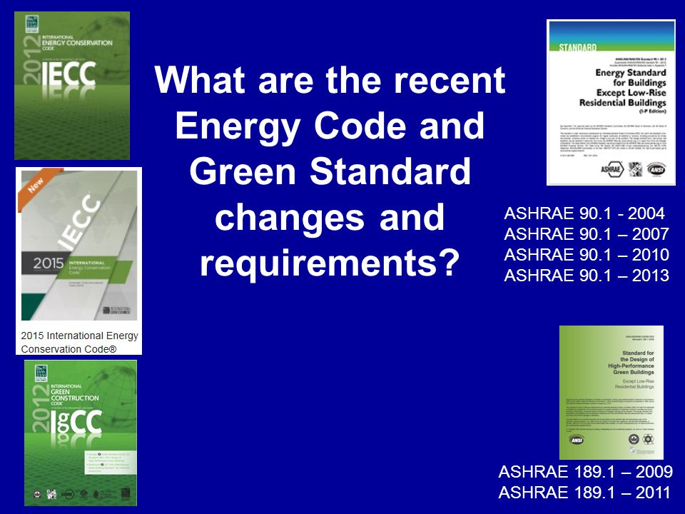 What are the recent Energy Code and Green Standard changes and requirements