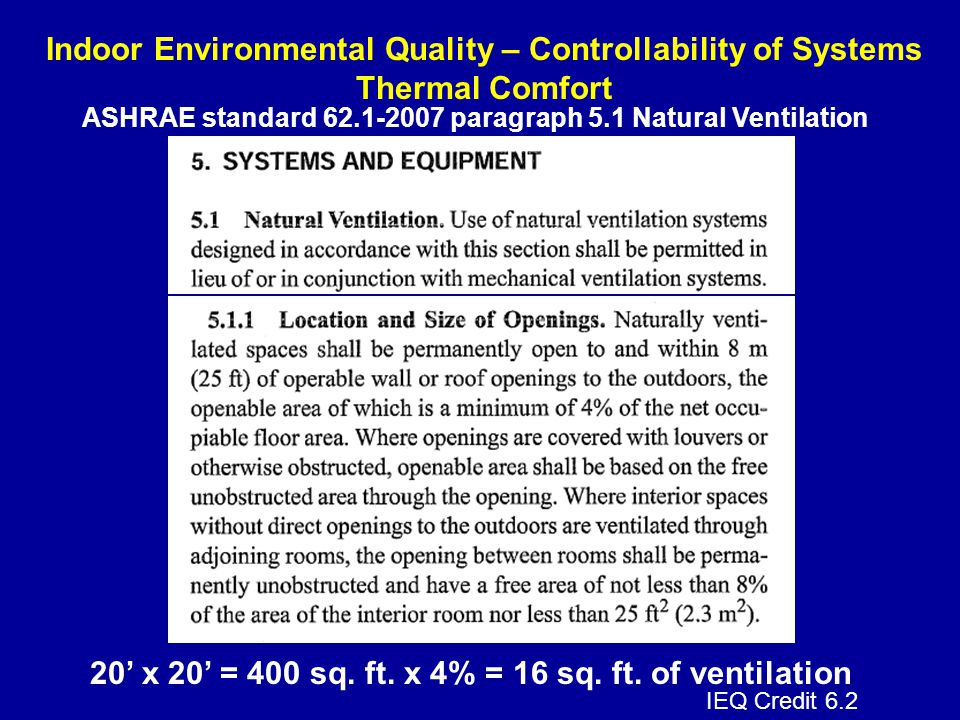 20' x 20' = 400 sq. ft. x 4% = 16 sq. ft. of ventilation
