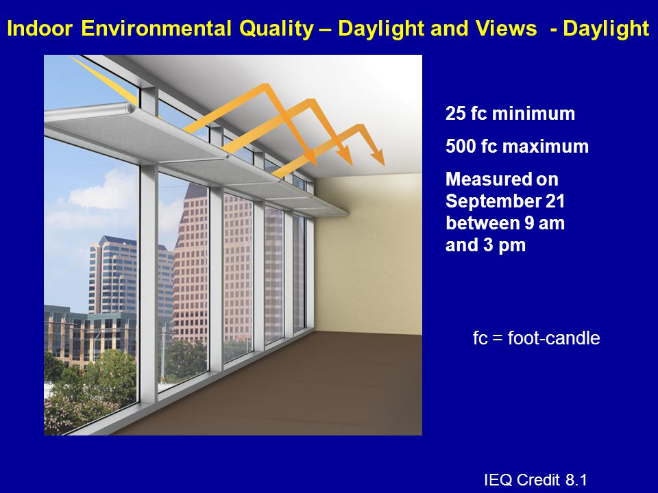 Indoor Environmental Quality – Daylight and Views - Daylight