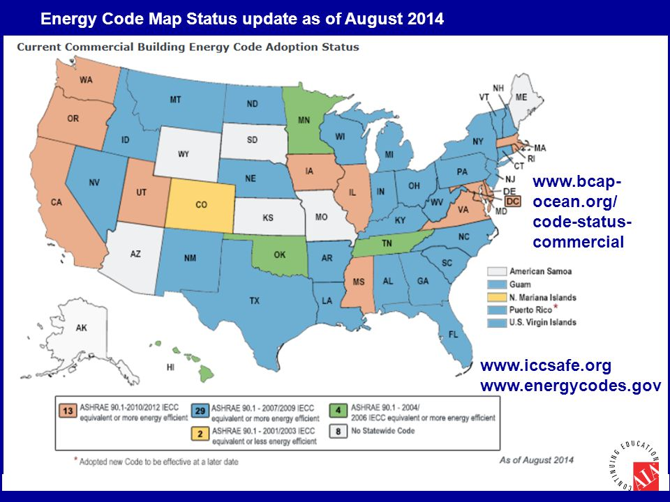 Energy Code Map Status update as of August 2014