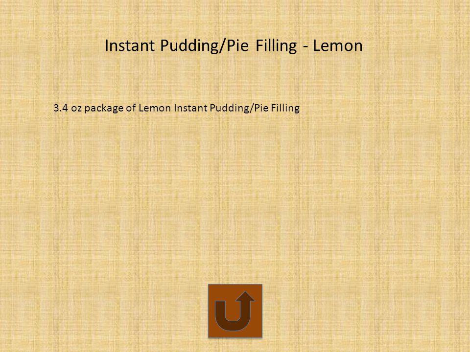Instant Pudding/Pie Filling - Lemon