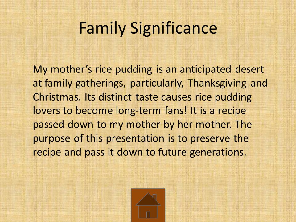 Family Significance