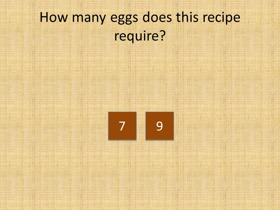 How many eggs does this recipe require