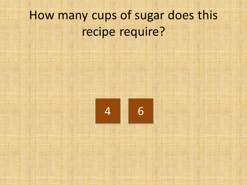 How many cups of sugar does this recipe require