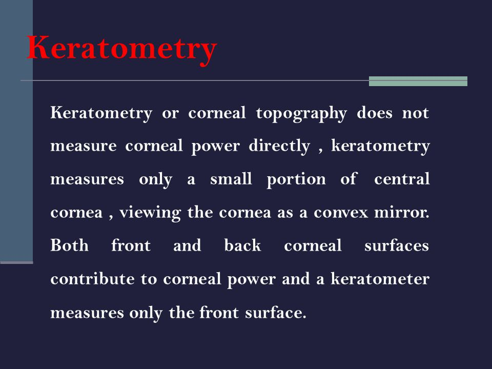 Keratometry