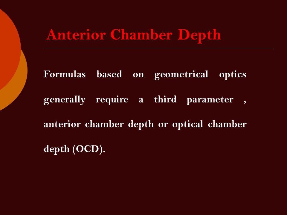 Anterior Chamber Depth