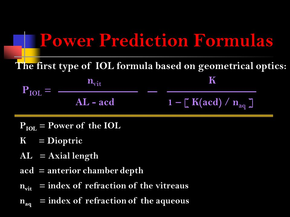 Power Prediction Formulas