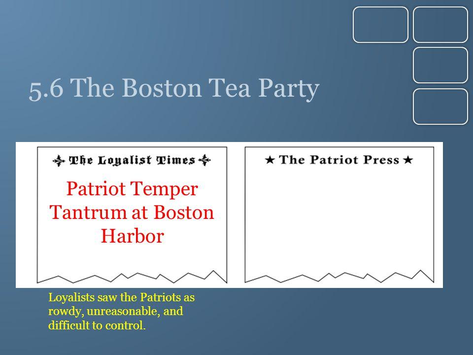 Patriot Temper Tantrum at Boston Harbor