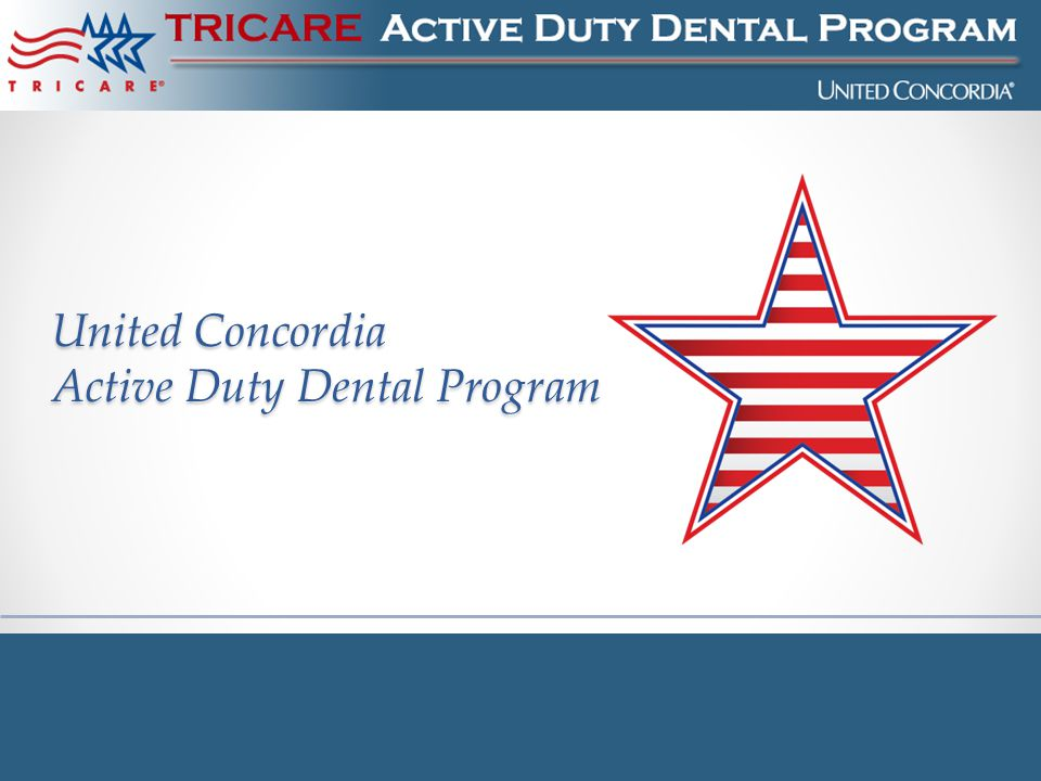 United Concordia Active Duty Dental Program