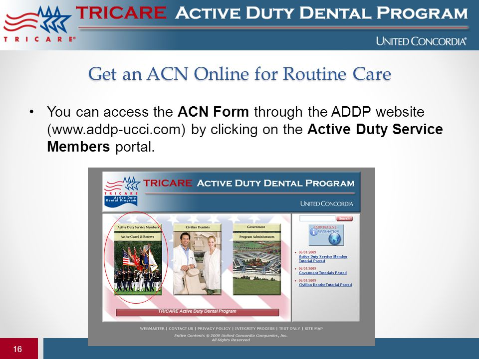 Get an ACN Online for Routine Care