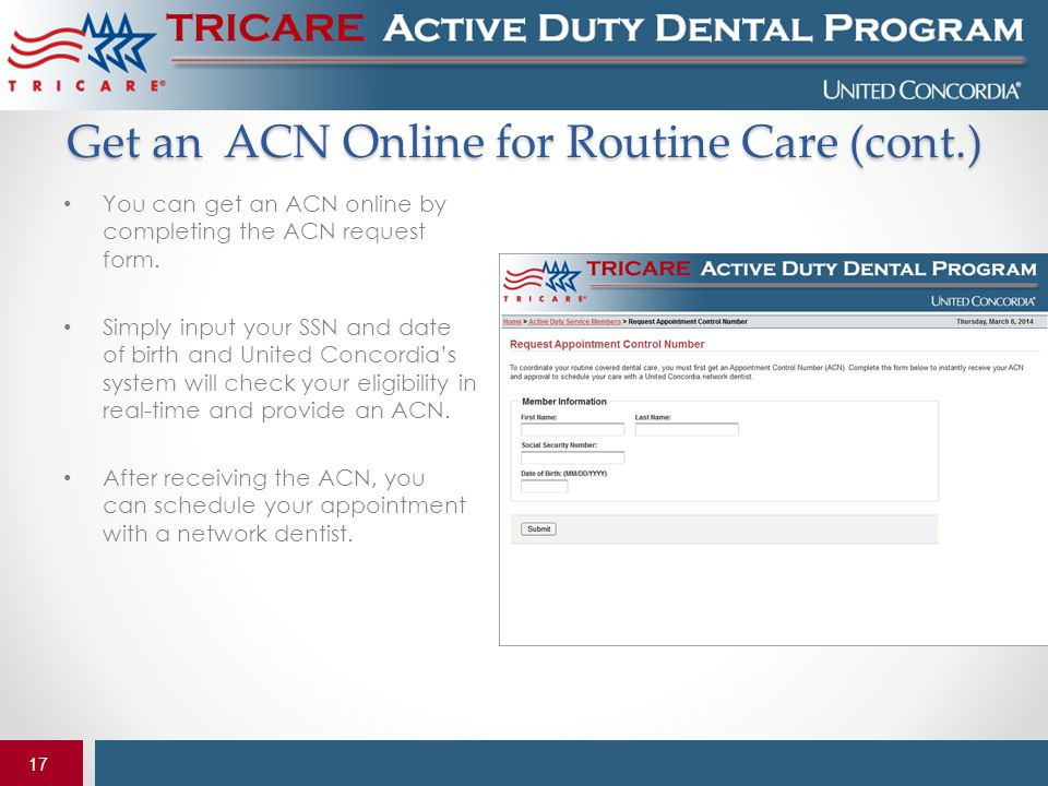 Get an ACN Online for Routine Care (cont.)