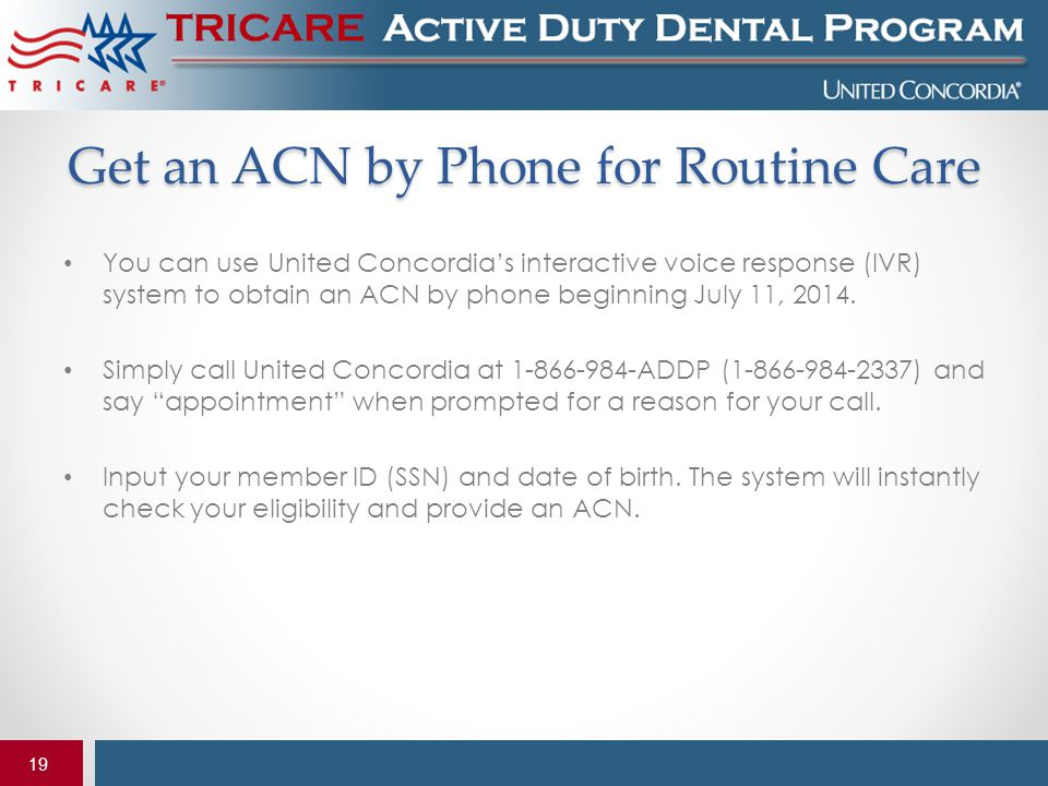 Get an ACN by Phone for Routine Care