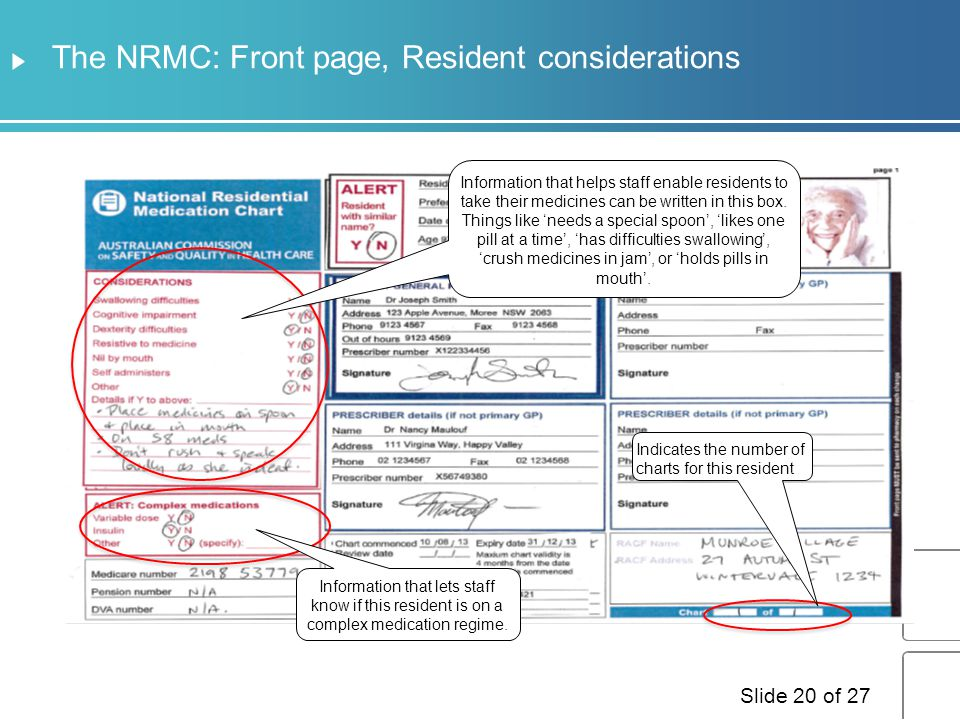 The NRMC: Front page, Resident considerations